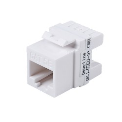 Cat5e Unshielded Keystone Jack(white)