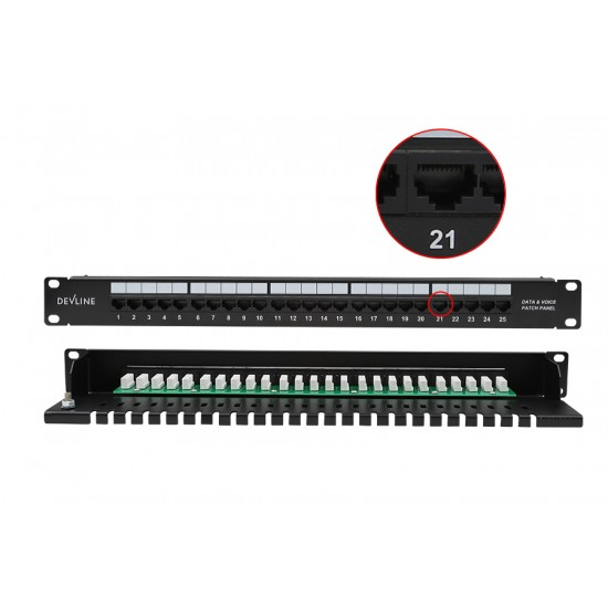 Voice Patch Panel 25-port(Black)