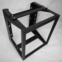 "Wall Mount IT Open Frame Swing Out Network Rack Hinged Black 19"" - Swing Gate"
