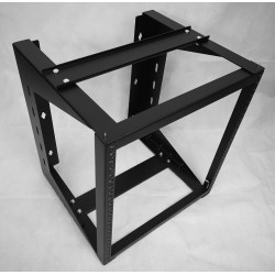 "Wall Mount IT Open Frame Swing Out Network Rack Hinged Black 19"" - Swing Gate"