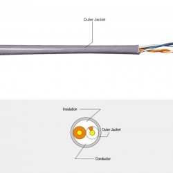 Telephone Cable (Voice Cable 2 pairs 100 m Gray)