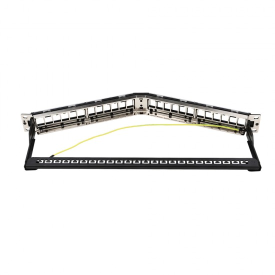Empty Patch Panel  angled(24 ports)