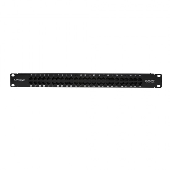Voice Patch Panel 50-port(Black)