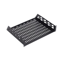 Fixed Rack Shelf with Vented Panel - Cantilever Slab 2U