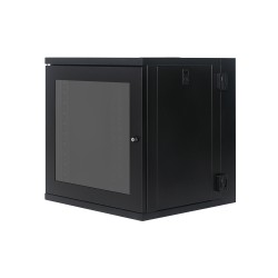 12U Swing Wall Cabinet (600x450+100) - fully welled, heavy duty and secure.