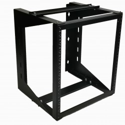"12U Wall Mount IT Open Frame Swing Gate Network Rack Hinged Black 19"" - DavisLegend"