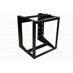 "12U Wall Mount IT Open Frame Swing Gate Network Rack Hinged Black 19"" - DavisLegend"