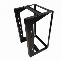 "18U Wall Mount IT Open Frame Swing Gate Network Rack Hinged Black 19"" - DavisLegend"