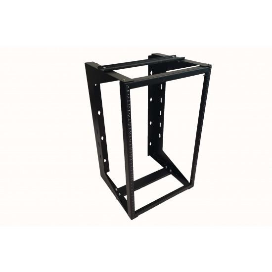 "18U Wall Mount IT Open Frame Swing Gate Network Rack Hinged Black 19"" - DavisLegend"