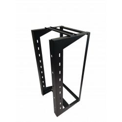 "24U Wall Mount IT Open Frame Swing Gate Network Rack Hinged Black 19"" - DavisLegend"