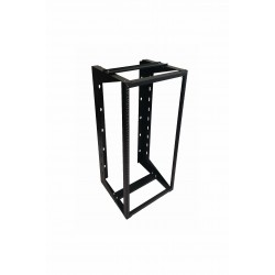 "24U Wall Mount IT Open Frame Swing Gate Network Rack Hinged Black 19"" - DavisLegend"